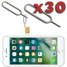 30 X Bandeja de eliminación de tarjeta SIM Pin Eyector Abridor Herramienta para iPhone 6 6S 7 7S Plus