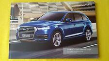 Audi Q7 SQ7 e-tron SE S Line sales brochure catalogue June 2016 MINT Q 7 4x4