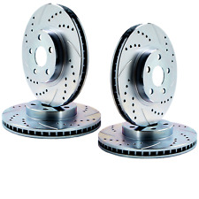 [ F/R SET ] DBL DRILLED & SLOTTED Brake Rotors FITS 05-14 FORD MUSTANG ATL052838