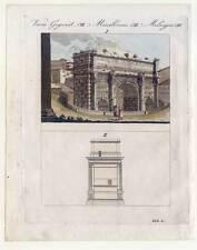 Triumphbogen - Rom - Italien -Italia -Italy - Bertuch-Kupferstich 1810