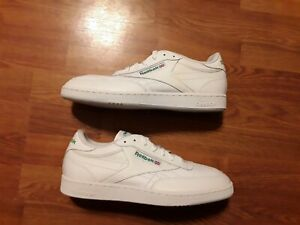 NEW Reebok Classic Club C85 Green/White Leather Sneakers Shoes Men's 12