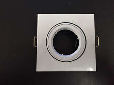 20 x White Square Recessed Downlight Housing Adjustable Frame for MR16 GU10 Bulb