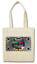 TV TEST PICTURE II HIPSTER BAG - Stofftasche Stoffbeutel - Testbild Retro Kult