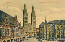 BREMEN – Marktplatz mit Rathaus, Dom, Borse – Germany - 1916