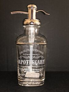 BELLA LUX Soap Dispenser APOTHECARY Silver GLASS Dr H Gnadendorff BATHROOM NEW