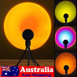 LED Sun Sunset Rainbow Projector Atmosphere USB Night Light Lamp For Room Decor