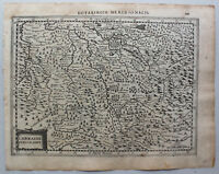 """Kupferstichkarte von Lothringen """"Lotaringia Meridionalis"""" um 1650 Frankreich sf"""