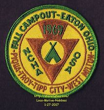 LMH Patch Badge 1969 NCHA FCRV OSA Family Campers Hikers CAMPOUT Eaton Ohio Tent