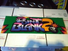 point blank 2 plexiglass arcade marquee #44