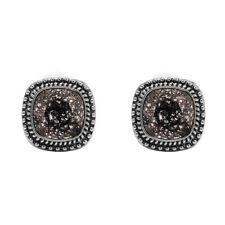 Bohm - Earrings Square - Swarovski Crystal - Clips - Black Space