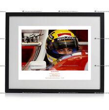 AYRTON SENNA Formula 1 McLaren Honda autograph signed