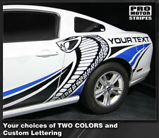 Ford Mustang Cobra Style Multi-Color Side Stripes Decal 2010 2011 2012 2013 2014
