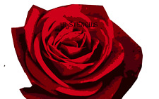 Multilayer step by step airbrush stencil ROSE 1