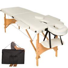Lettino massaggi portatile massaggio fisioterapia pieghevole 2zone beige + borsa