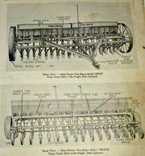 John Deere DR Plain Grain Drill Parts Catalog Manual Book Original! JD 2/64