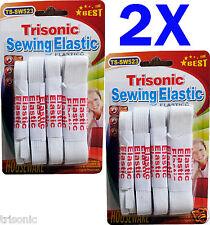 8pc White Craft Supplies Sewing Elastic 3/4″x48″, 1/4″x96″, 1/2″x48″