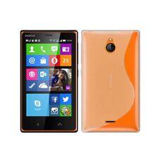 Custodia FIT in silicone rigido trasparente per Nokia X2-00, Colore: Bianco