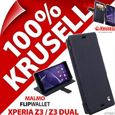 Krusell Malmo FlipWallet Case Flip Wallet Folio Cover for Sony Xperia Z3/Z3 Dual