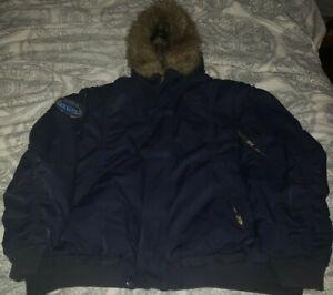 Akademik's Black Rain Faux Fur Lined Men's Size 3XL Preowned Coat Jacket Rare