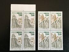 France-UNESCO 1986 patrimoine mondial LOT BLOCS DE 4 ma Yv91-92 (J1017)