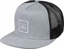 Quiksilver Clip Charger Snapback Hat (Medium Gray Heather)