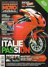 MOTO JOURNAL HS ITALIE DUCATI 999 998 916 Mhe 900 APRILIA RSV GUZZI Le Mans V11