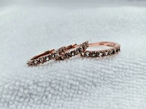 Natural Round Morganite 3mm 14k Rose Gold Plate 925 Sterling Silver Jewelry Sets