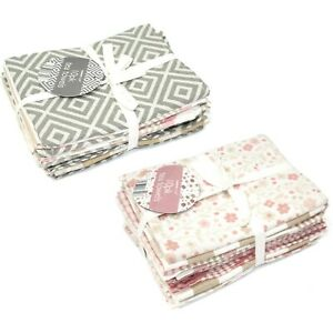 10Pk Flat Cotton Blend Patterned Kitchen Tea Towels Geometric Floral Hand Drying