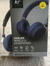 KitSound Blue Harlem Wireless Headphones New