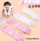 Girls Kids Gloves Children Princess Bow Fancy Party Dress Bridesmaid Gloves 3-6Y