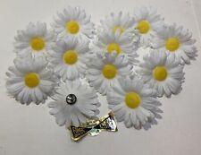 Lot Of 12 Vintage Retro Plastic Daisy Flower Push Pin Thumb Tacks Fromez