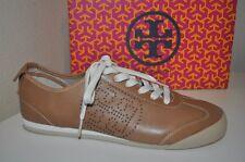 NIB $175+ Tory Burch Women's Royal Tan Brown MURPHEY Perforated Sneaker Shoe 10