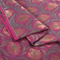 Sanskriti 1 Yd Pure Silk Metallic Zari Banarasi/Brocade Dress Material Fabric