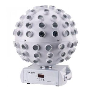 Kam Stratosphere Ghost White LED Revolving Mirrorball Lighting Effect DJ Disco