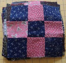6417 26 antique 1890-1920 9 Patch quilt blocks, fabulous prints!