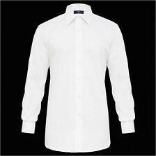 Camicia bianca Ingram collo classico italiano puro cotone No Stiro taglia 45-XXL