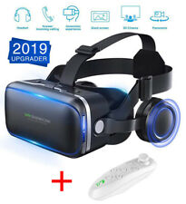 "3D Virtual Reality Headset 360° VR Goggles for iPhone Android 4.5 to 6"" + Remote"