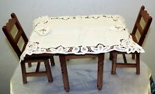 American Girl Doll Molly Dining Table 2 Chairs 2 Table Cloths with Napkins