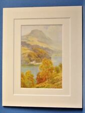 LOCH LOMOND STRAITS OF BALMAHA FROM INCH CAILLEACH VINTAGE DOUBLE MOUNTED PRINT
