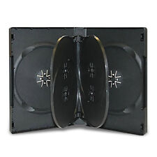 2 x 6 DISC WAY DVD CD CASE BLACK 22MM SPINE