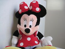 "Disneyland Disney MINNIE Mouse 18"" Plush Stuffed Animal Red Yellow Black"