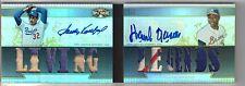2011 Triple Threads Hank Aaron Sandy Koufax 3 Clr Patch Book Auto #1/1 Platinum