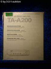 Sony Bedienungsanleitung TA A200 Stereo Amplifier (#0060)