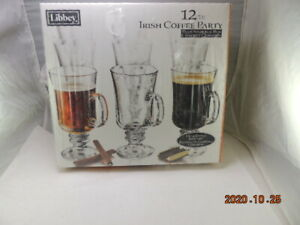 Libbey Irish Coffee Mugs Set Of 12 Cups & Mug NEVER USED IN BOX