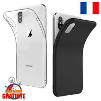 COQUE HOUSSE ETUI TPU SILICONE POUR IPHONE 6 5 7 8 X PROTECTION ANTI CHOC SOUPLE