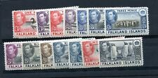 FALKLAND IS 1938-50 ½d to 2/6 complete mint hinged. SG 146-80. Cat £270+