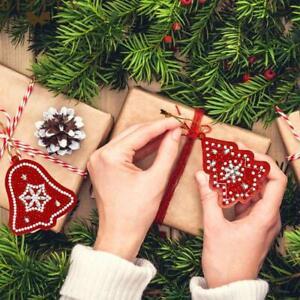20x Christmas Tree Cross Stitch Hanging Ornaments Xmas Gifts Pendants Decoration