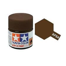 Tamiya Colore acrilico MARRONE ROSSO plastica metallo TAMIYA XF-64 10ml