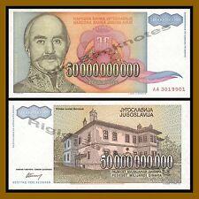 Yugoslavia 50000000000 (50 Billion) Dinara, 1993 P-136 Unc