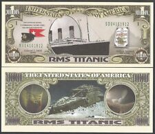 TITANIC MONEY 0NE MILLION DOLLARS UNC NOVELTY BANKNOTE CAPTAIN EDWARD J SMITH